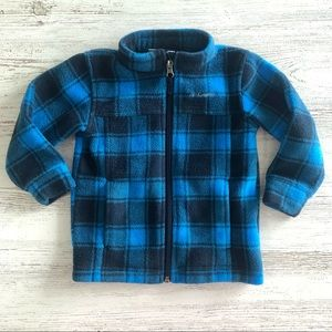 COLUMBIA Check Plaid Cozy Fleece Jacket 18-24M
